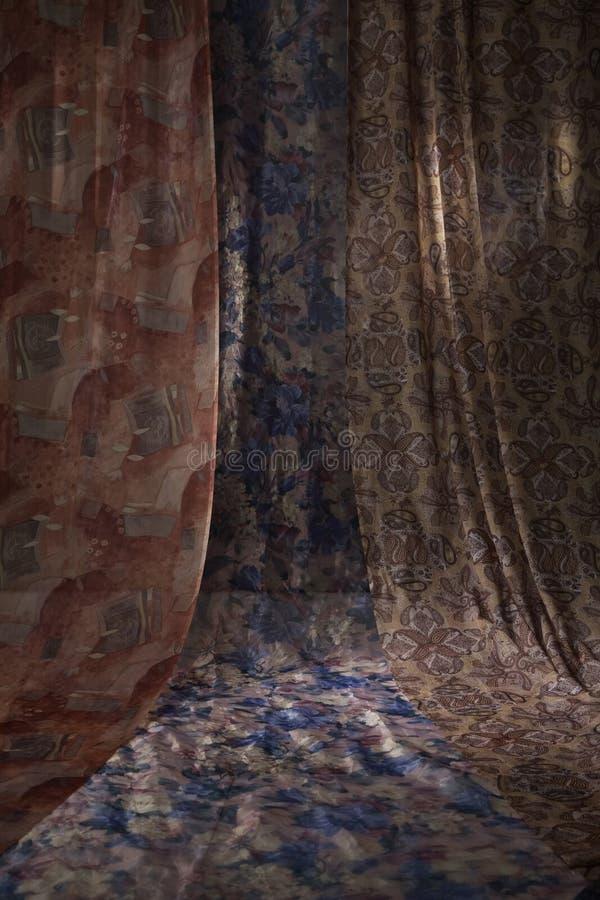 abstrakt begrepp hänger upp gardiner den eleganta bilden royaltyfri fotografi