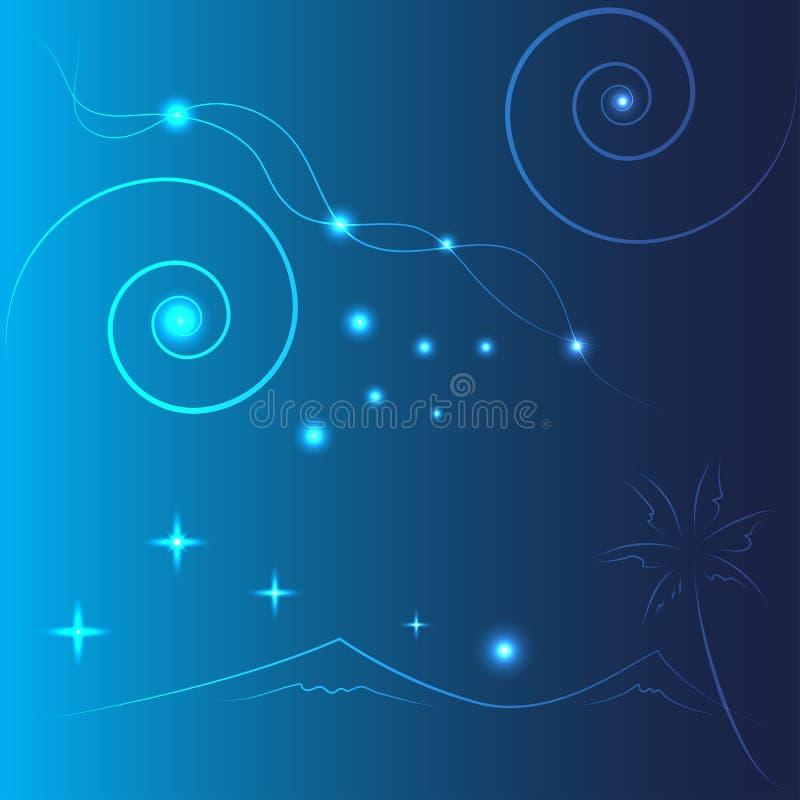 Abstrakt begrepp i blå bakgrund royaltyfri illustrationer