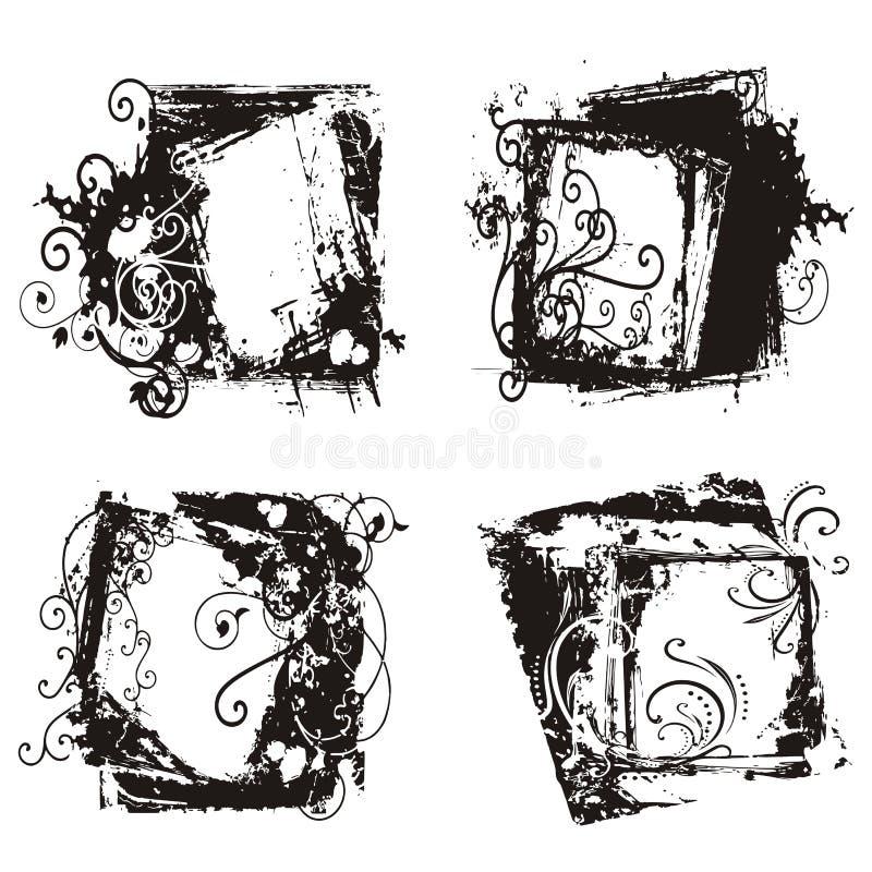 abstrakt begrepp inramniner grunge stock illustrationer