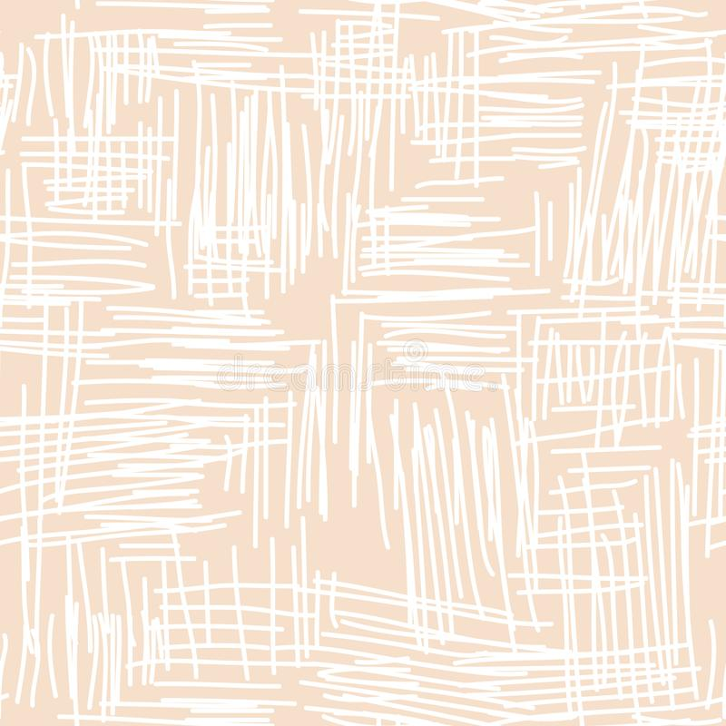 Abstrakt begrepp klottrad sömlös vektormodell royaltyfri illustrationer