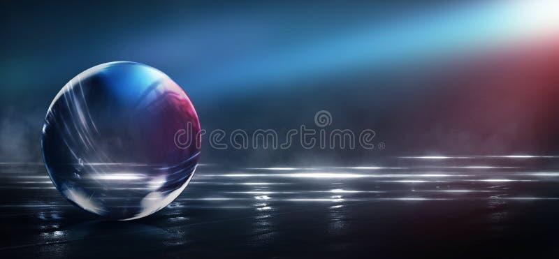 Abstrakt begrepp konst, astronomi, bakgrund, boll, svart, blått som är ljus, stad, färg som är färgrik, färger, kosmos, kristall  arkivfoto