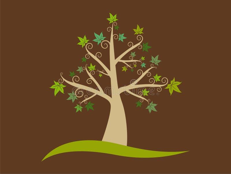 abstrakt begrepp låter vara treen royaltyfri illustrationer