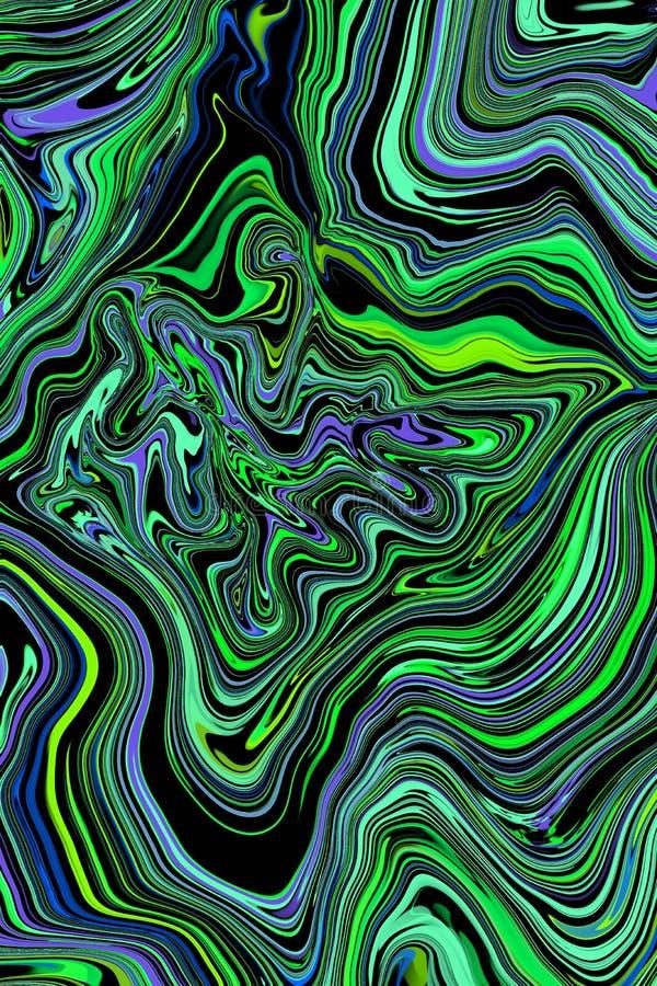 Abstrakt begrepp marmorerar trycket, designmallar Lyxig designbroschyr, bakgrund för illustration för textur för lutning för gräs vektor illustrationer
