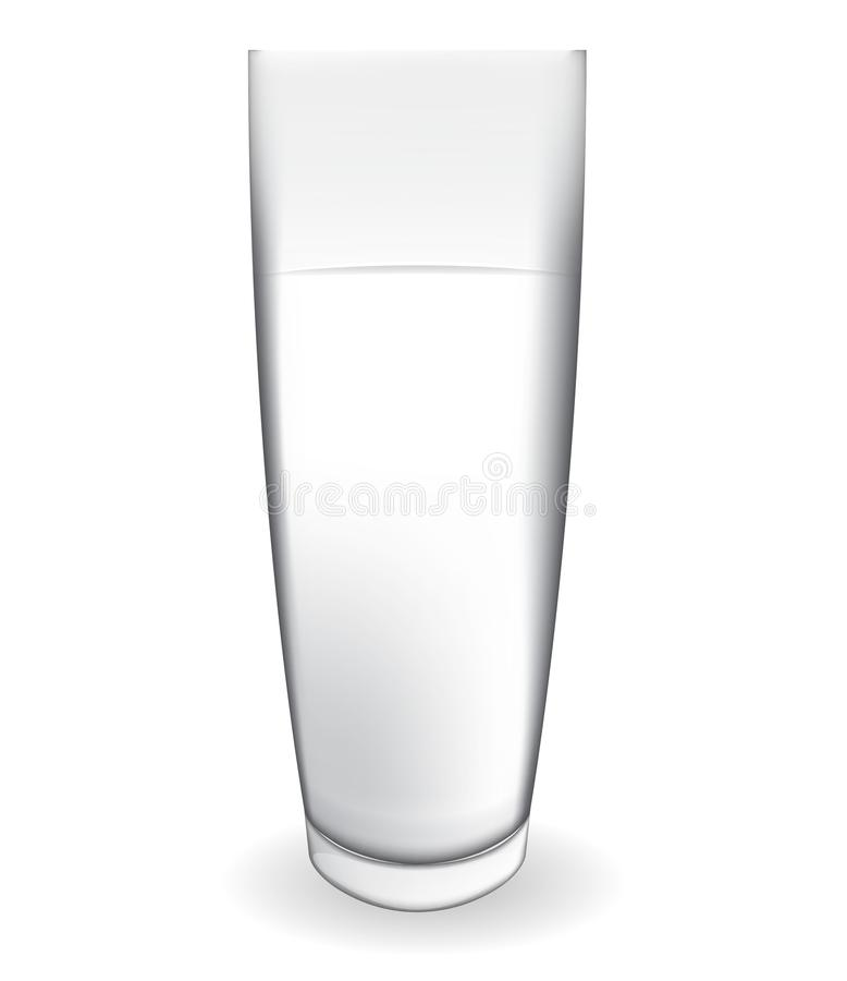 Abstrakt begrepp mjölkar exponeringsglas på den vita bakgrundsvektorillustrationen stock illustrationer
