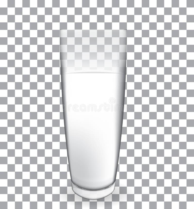 Abstrakt begrepp mjölkar exponeringsglas på genomskinlig bakgrundsvektor vektor illustrationer