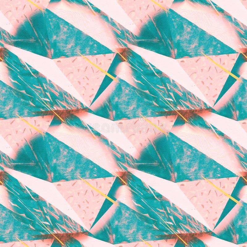 Abstrakt begrepp rufsad till triangulär bakgrundstextur Sömlös polygonal modell för din design Idérik mall royaltyfri illustrationer