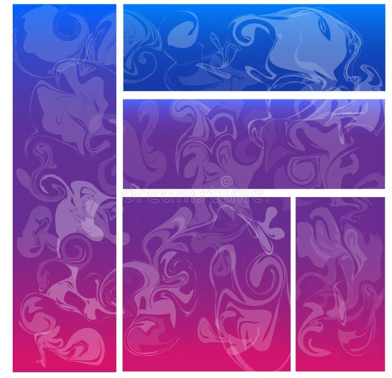 abstrakt begrepp shapes rök stock illustrationer