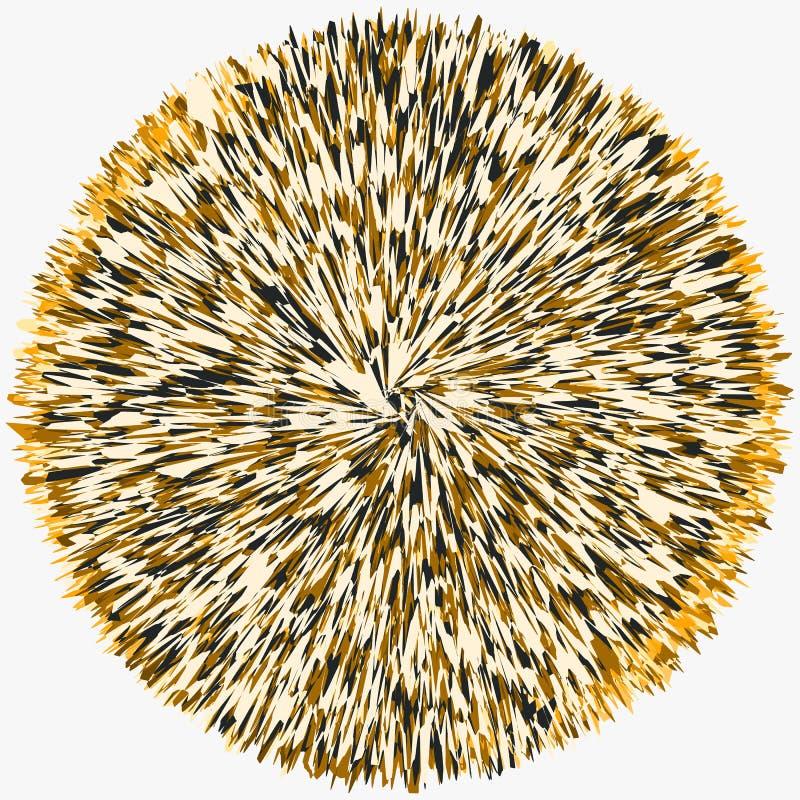 Abstrakt begrepp skein-som tilltrasslad cirkel Rund form med överlappning stock illustrationer