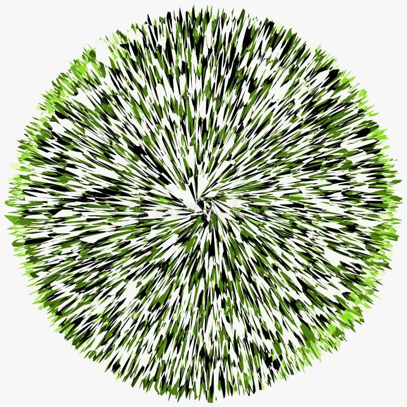 Abstrakt begrepp skein-som tilltrasslad cirkel Rund form med överlappning royaltyfri illustrationer