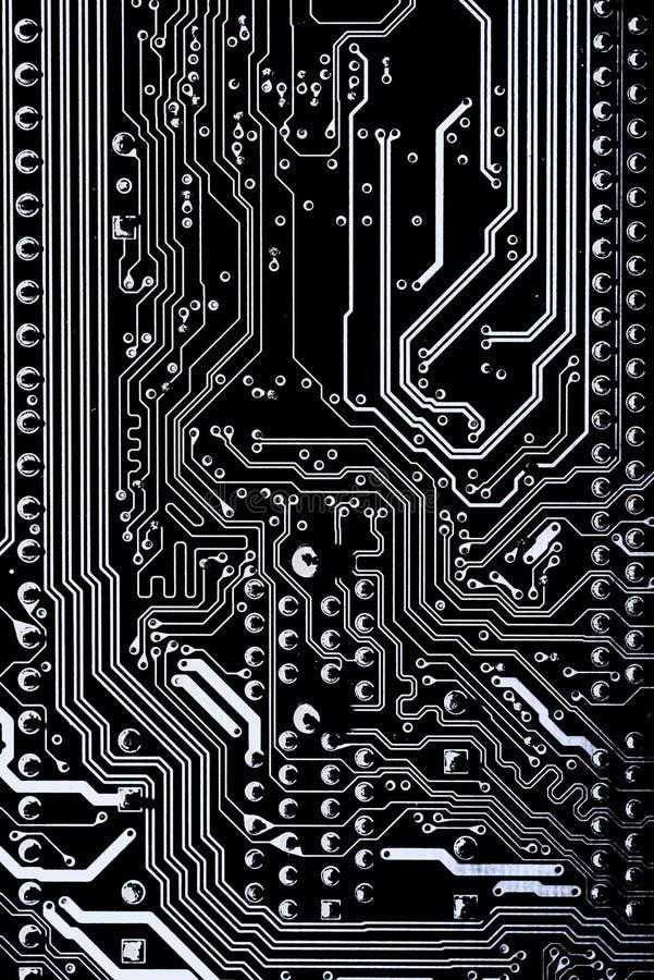 Abstrakt begrepp slut upp av bakgrund Mainboard för elektronisk dator logikbräde, CPU-moderkort, huvudsakligt bräde, systembräde, vektor illustrationer