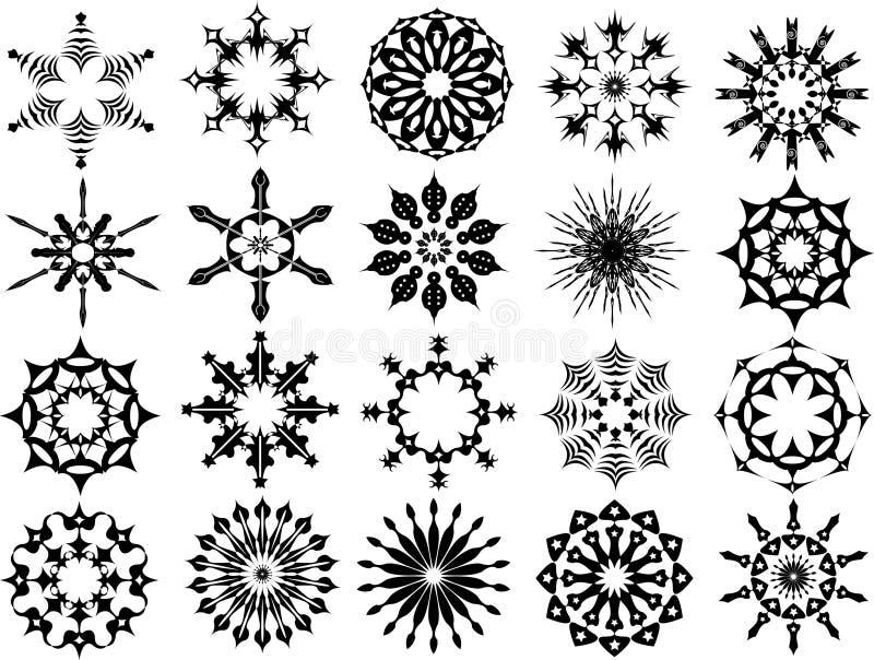 abstrakt begrepp smyckar vektorn royaltyfri illustrationer