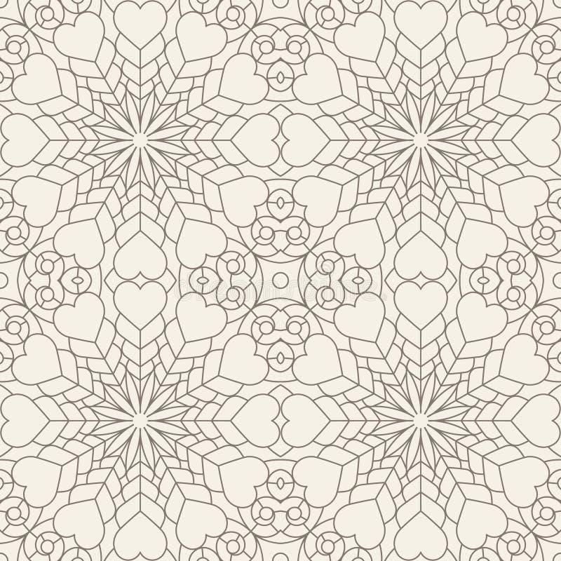 Abstrakt begrepp snör åt den sömlösa geometriska modellen i trevligt ljus ye vektor illustrationer