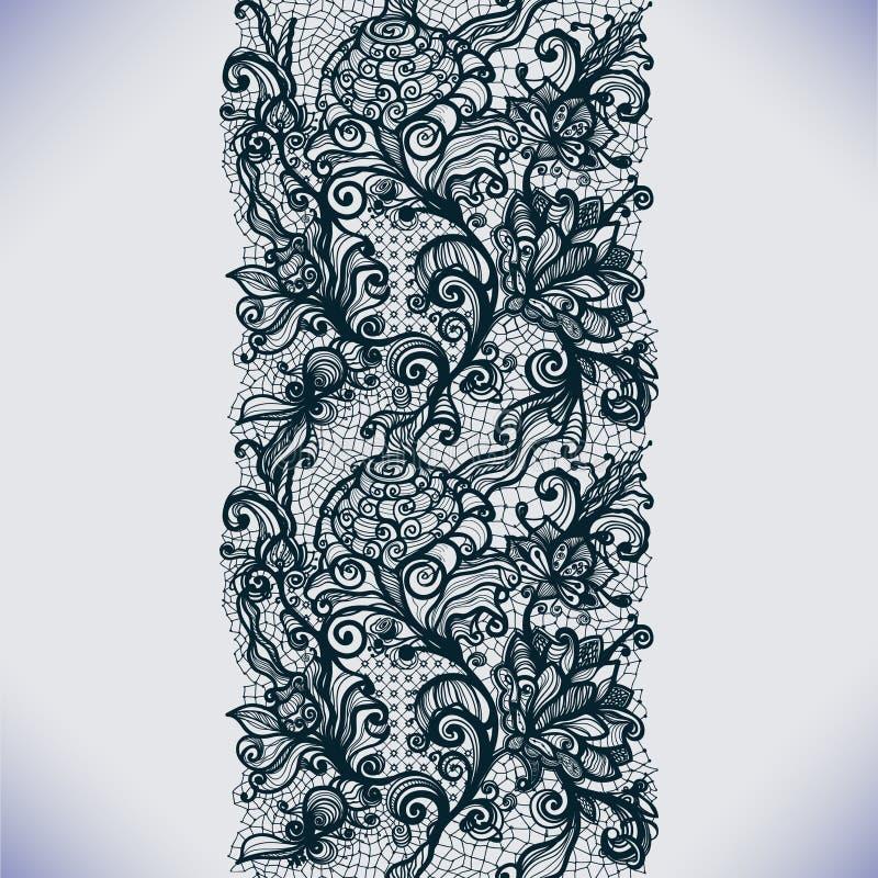 Abstrakt begrepp snör åt den vertikala sömlösa modellen för bandet stock illustrationer