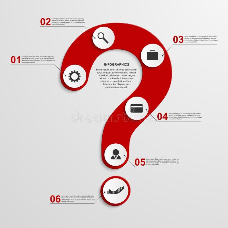 Abstrakt begrepp som är infographic i form av frågefläck bakgrundsdesignelement fyra vita snowflakes stock illustrationer