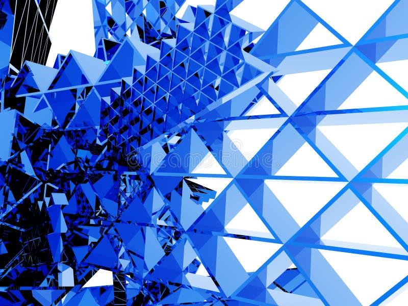 abstrakt begrepp staplade trianglar royaltyfri illustrationer