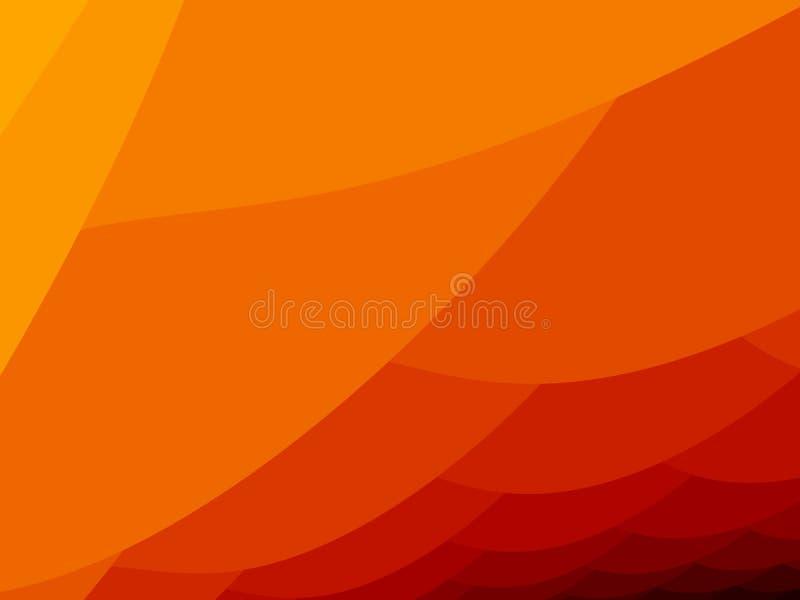 abstrakt begrepp sväller orangen vektor illustrationer