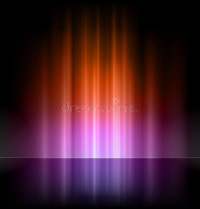 Abstrakt begrepp tänder vektorbakgrunder royaltyfri illustrationer