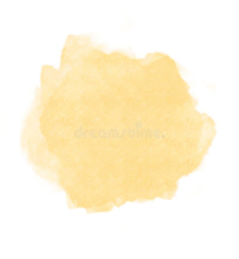 Abstrakt begrepp texturerat mjukt för vattenfärgbrunn för gul guld bruk som bakgrund royaltyfri foto