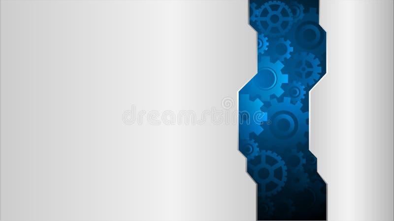 Abstrakt begrepp utrustar bakgrund, det industriella begreppet för mekanismen, vektorillustration stock illustrationer