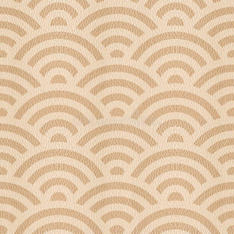 Abstrakt begrepp välva sig modellen - sömlös bakgrund - trä för den vita eken royaltyfri illustrationer