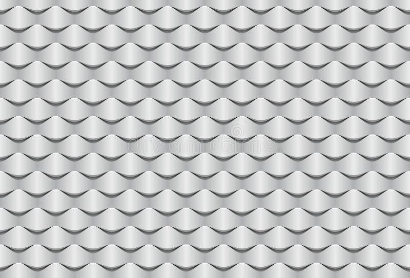 Abstrakt begrepp vinkar sömlös textur för tapet 3d vektor illustrationer