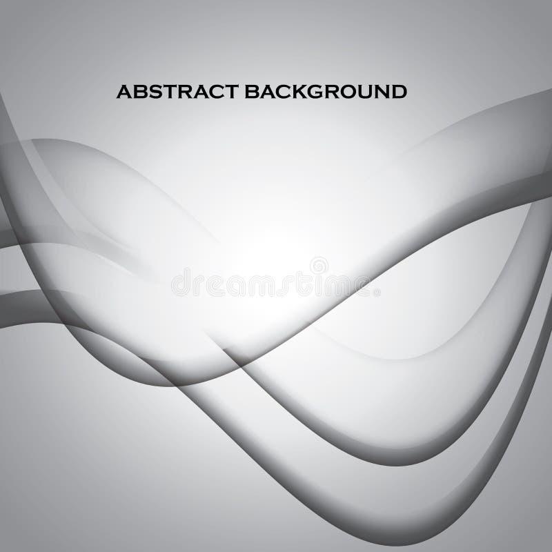 Abstrakt begrepp vinkar stilfull monokrom bakgrund vektor illustrationer