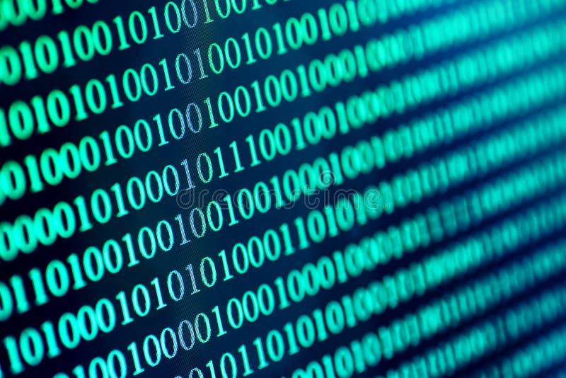 Abstrakt begreppbakgrund för binär kod Den moderna teknologiinternetkommunikationen och nätverksdata i cyberspacebegrepp, slösar  royaltyfri illustrationer