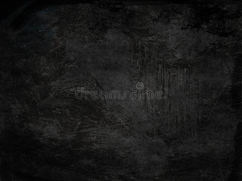 Abstrakt begreppbakgrund för mörk svart Tappningtextur med mörka hörn stock illustrationer