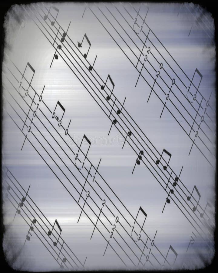 Abstrakt begreppbakgrund för musikalisk ställning stock illustrationer