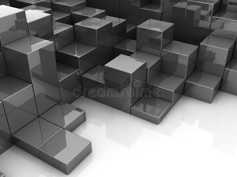 Download Abstrakt begreppblock stock illustrationer. Illustration av futuristic - 19787417