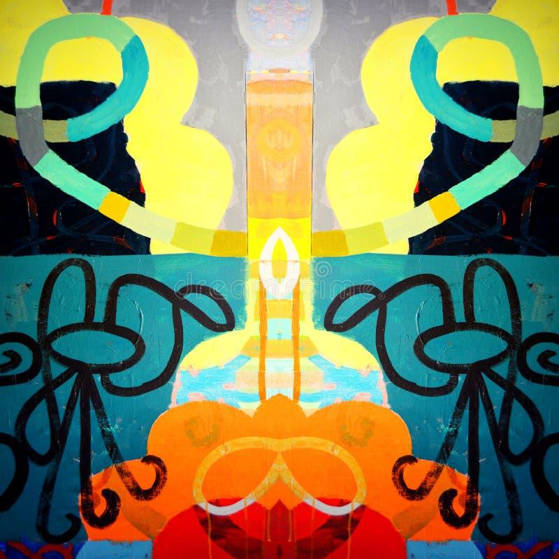 Abstrakt begreppformer och färger royaltyfri fotografi