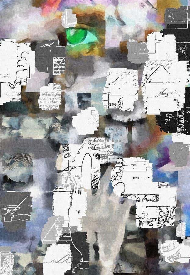 Abstrakt begreppfragment stock illustrationer
