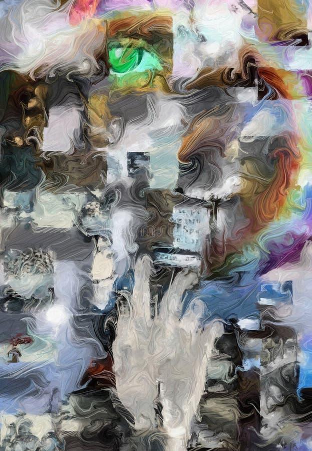 Abstrakt begreppfragment vektor illustrationer