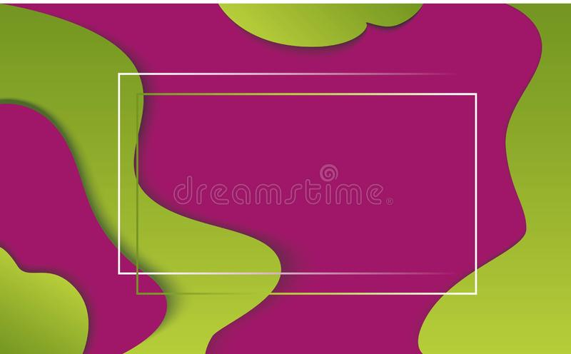 abstrakt begreppillustration för papper 3d grön pink för bakgrund Vektordesignorientering för banerpresentationer, reklamblad, af stock illustrationer