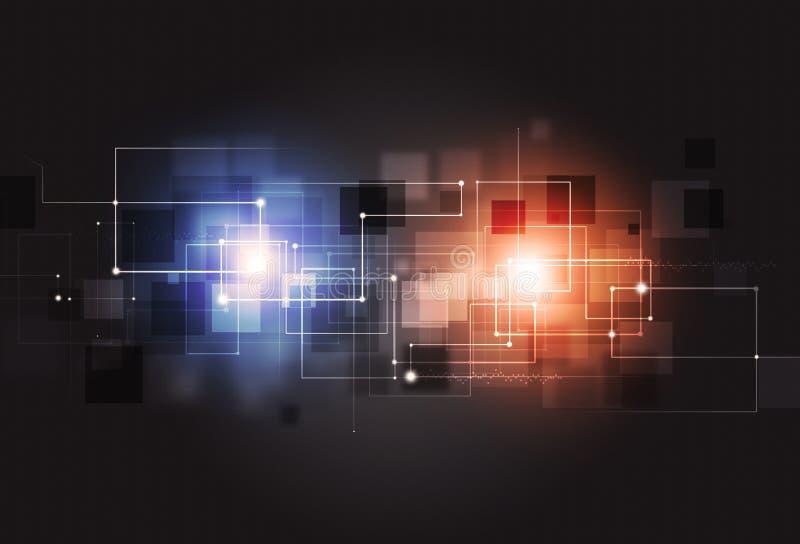 Abstrakt begreppsteknologibakgrund stock illustrationer