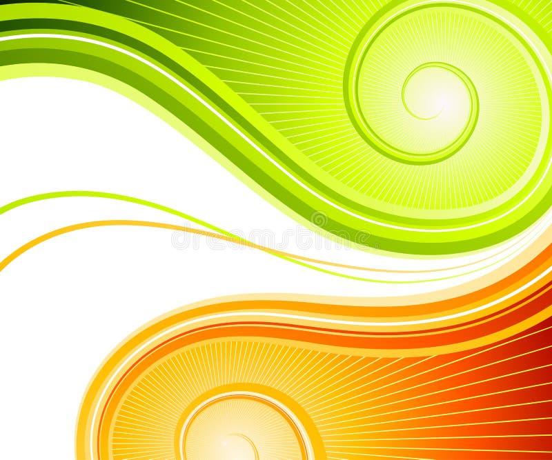 abstrakt begreppswirls vektor illustrationer