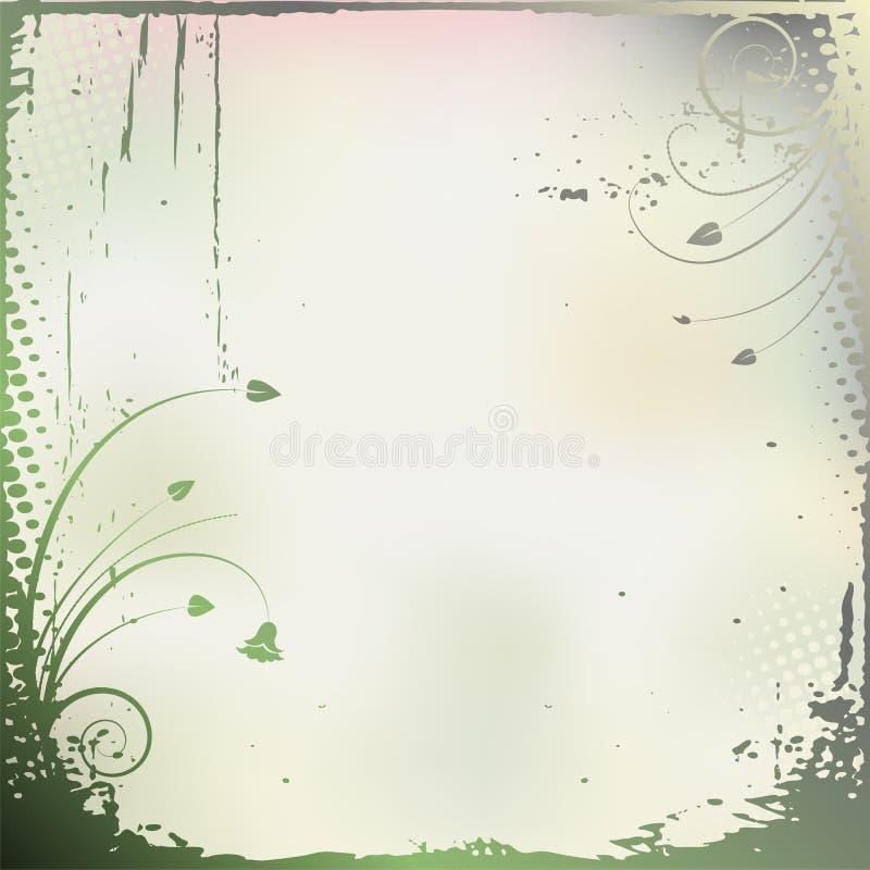 Abstrakt begreppväxter - banerram stock illustrationer