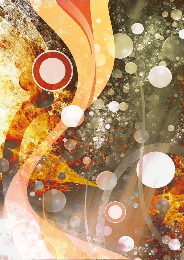 abstrakt begreppwaves stock illustrationer