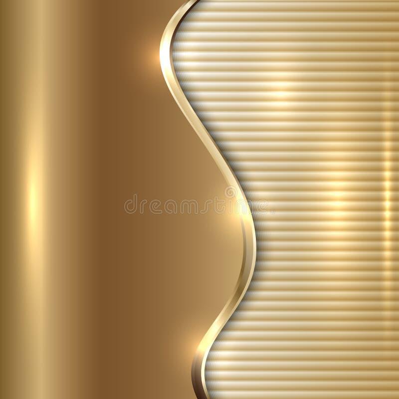 Abstrakt beige bakgrund för vektor med kurvan och band stock illustrationer