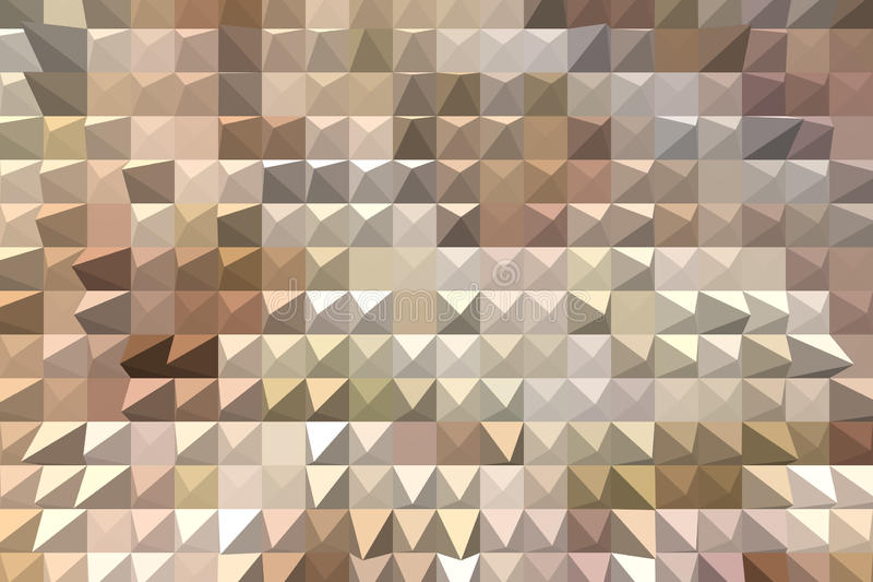 Abstrakt beige bakgrund med pyramiden pressar ut royaltyfria bilder