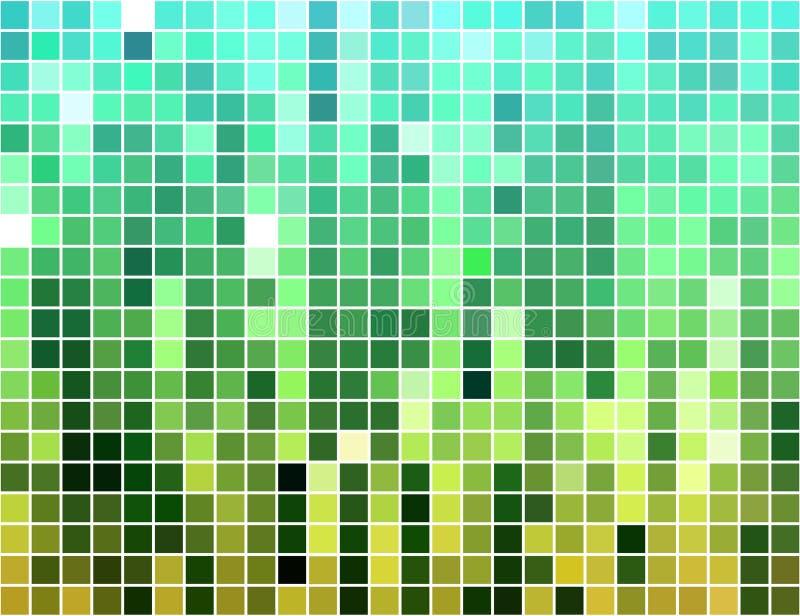 abstrakt belagd med tegel bakgrundsmosaikfyrkant royaltyfri illustrationer