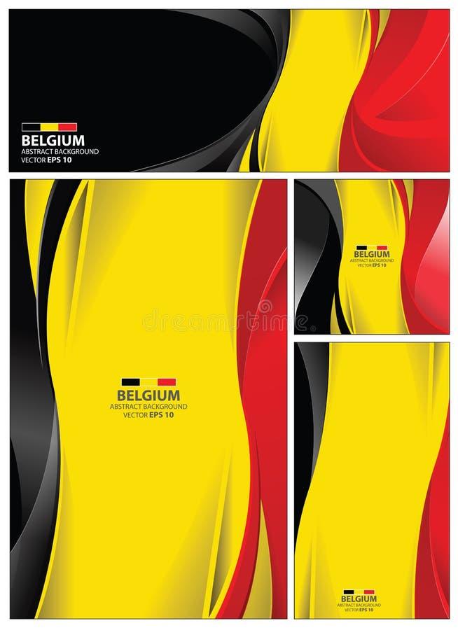 Abstrakt Belgien flaggabakgrund stock illustrationer