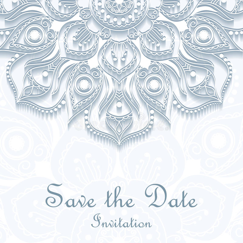 Abstrakt beståndsdel för att gifta sig inbjudningar Mall för bröllopkort med individuellt begrepp Planlägg med klotter för räddni stock illustrationer