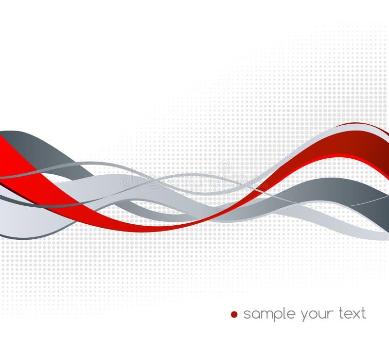 Abstrakt beståndsdel för färgvågdesign stock illustrationer