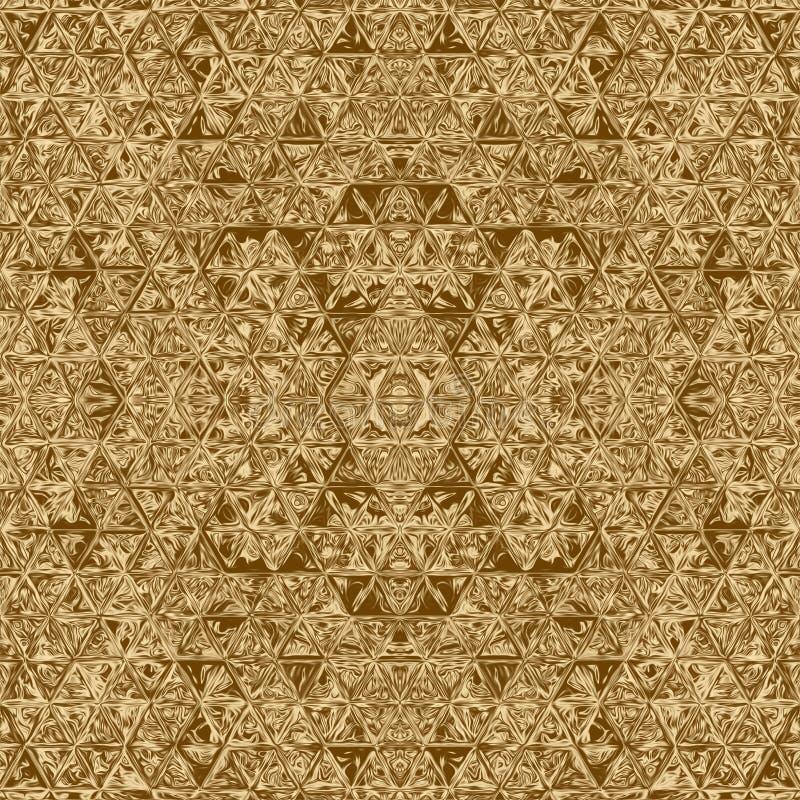 Abstrakt beståndsdel för guld- mosaik och kalejdoskopbakgrund, bakgrund stock illustrationer