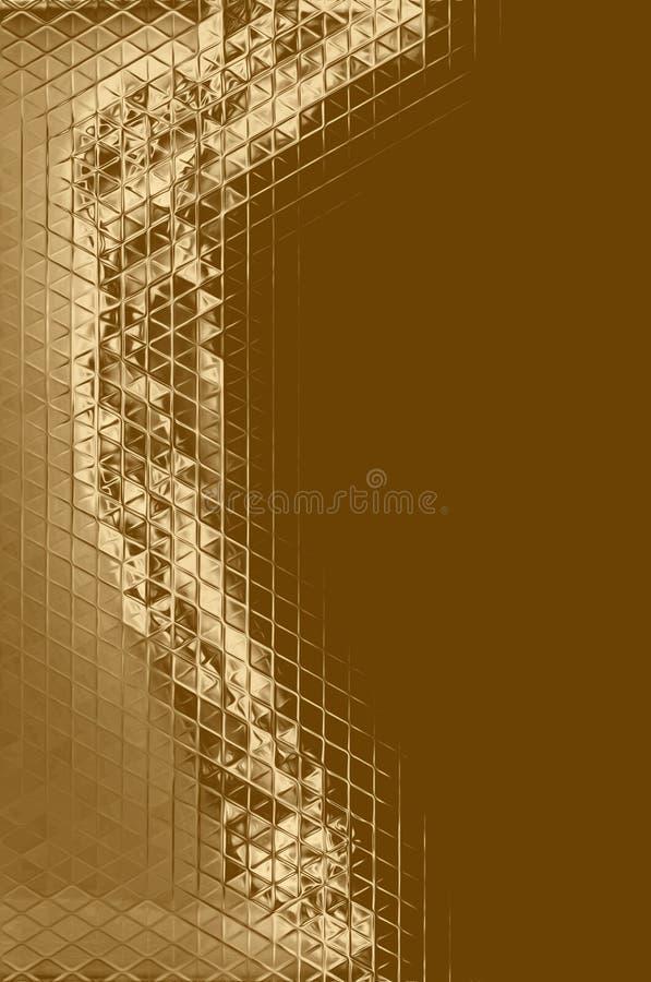 Abstrakt beståndsdel för guld- mosaik och kalejdoskopbakgrund, garneringkonst vektor illustrationer