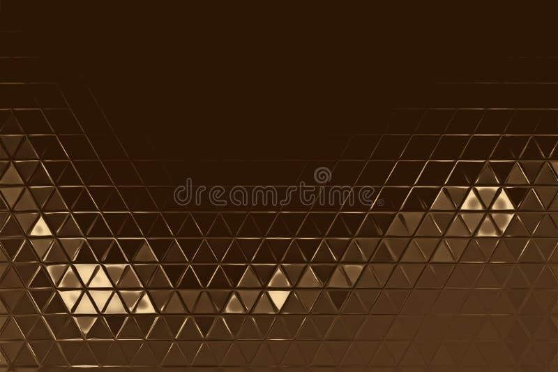 Abstrakt beståndsdel för guld- mosaik och kalejdoskopbakgrund, skinande metall stock illustrationer