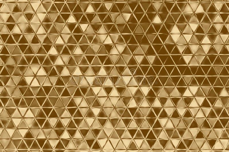 Abstrakt beståndsdel för guld- mosaik och kalejdoskopbakgrund som är guld- vektor illustrationer