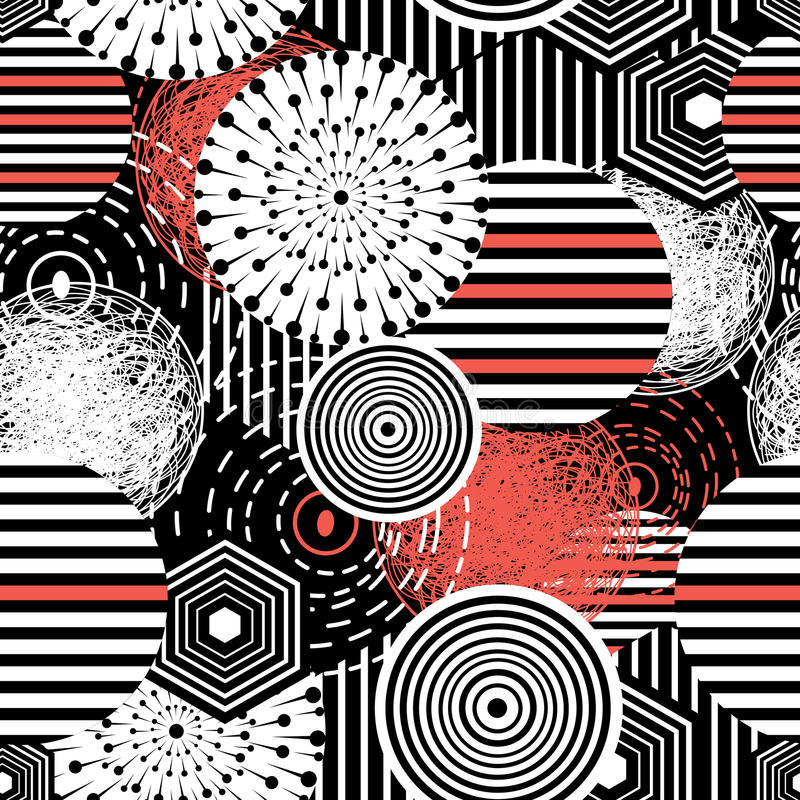 Abstrakt beståndsdelar stock illustrationer