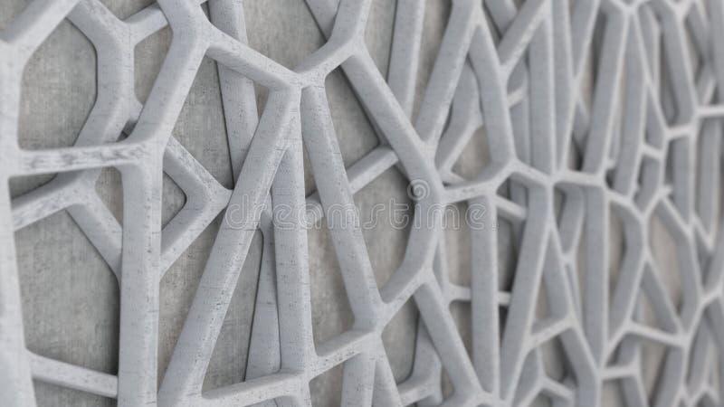 Abstrakt betonowa 3d kratownica royalty ilustracja